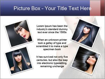 Beauty Brunette Fashion Model PowerPoint Template - Slide 24