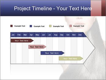 Beauty Brunette Fashion Model PowerPoint Template - Slide 25