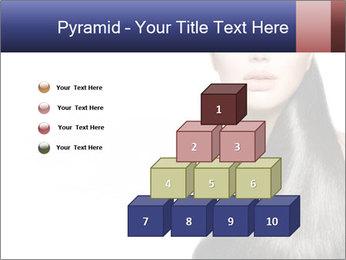 Beauty Brunette Fashion Model PowerPoint Template - Slide 31