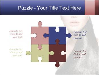 Beauty Brunette Fashion Model PowerPoint Template - Slide 43