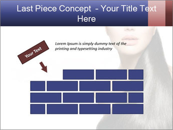 Beauty Brunette Fashion Model PowerPoint Template - Slide 46