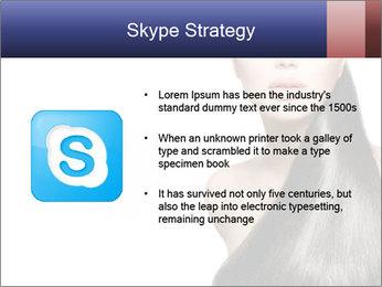 Beauty Brunette Fashion Model PowerPoint Template - Slide 8