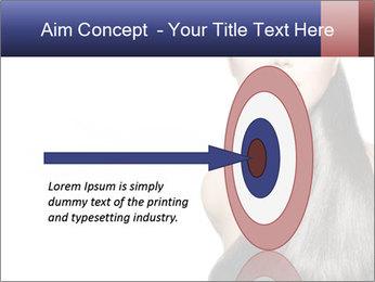 Beauty Brunette Fashion Model PowerPoint Template - Slide 83