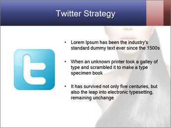 Beauty Brunette Fashion Model PowerPoint Template - Slide 9