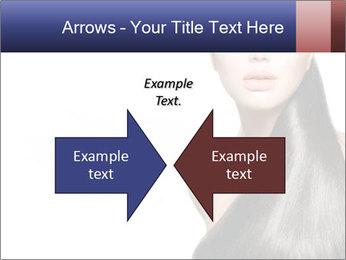 Beauty Brunette Fashion Model PowerPoint Template - Slide 90