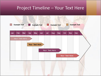 Beautiful women in full growth pose PowerPoint Templates - Slide 25