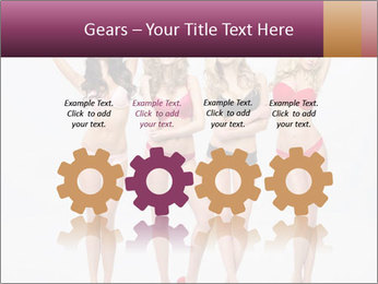 Beautiful women in full growth pose PowerPoint Templates - Slide 48