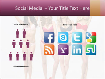 Beautiful women in full growth pose PowerPoint Templates - Slide 5