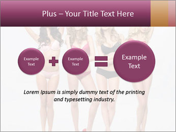 Beautiful women in full growth pose PowerPoint Template - Slide 75