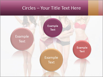 Beautiful women in full growth pose PowerPoint Templates - Slide 77
