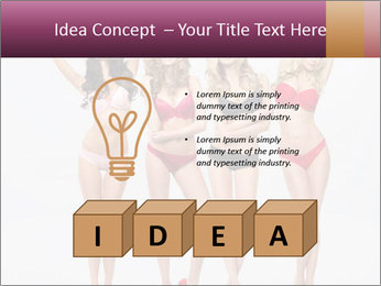 Beautiful women in full growth pose PowerPoint Templates - Slide 80