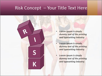 Beautiful women in full growth pose PowerPoint Templates - Slide 81