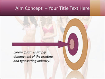 Beautiful women in full growth pose PowerPoint Template - Slide 83