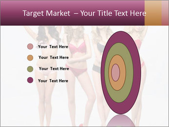 Beautiful women in full growth pose PowerPoint Templates - Slide 84