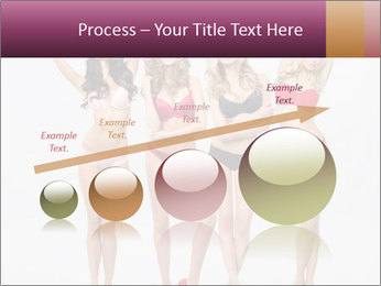 Beautiful women in full growth pose PowerPoint Template - Slide 87