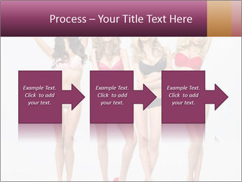 Beautiful women in full growth pose PowerPoint Template - Slide 88