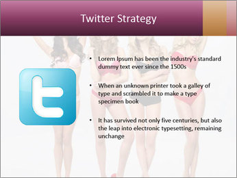 Beautiful women in full growth pose PowerPoint Template - Slide 9