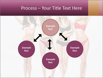 Beautiful women in full growth pose PowerPoint Template - Slide 91