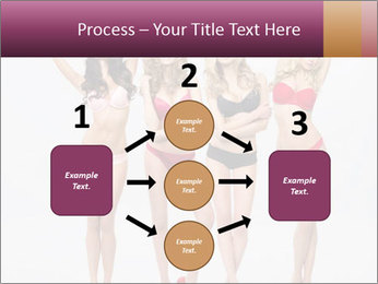 Beautiful women in full growth pose PowerPoint Templates - Slide 92
