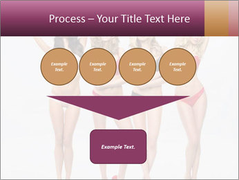 Beautiful women in full growth pose PowerPoint Template - Slide 93