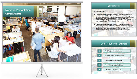 Plan Office PowerPoint Template
