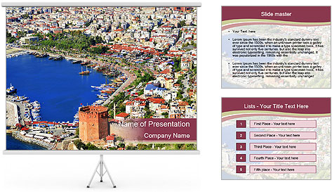 Turkish Riviera PowerPoint Template