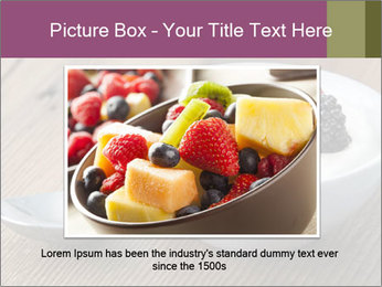 Bowl of fresh mixed berries PowerPoint Template - Slide 15