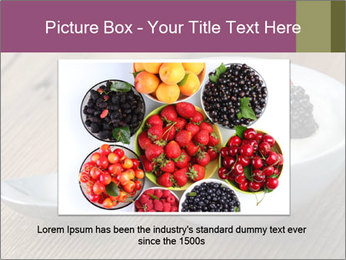 Bowl of fresh mixed berries PowerPoint Template - Slide 16