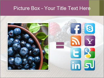 Bowl of fresh mixed berries PowerPoint Template - Slide 21