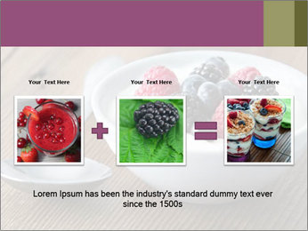 Bowl of fresh mixed berries PowerPoint Template - Slide 22