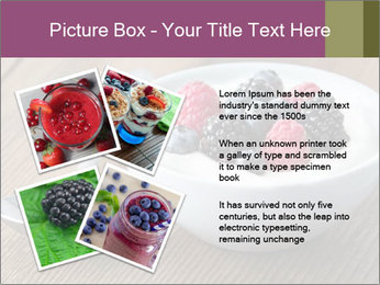 Bowl of fresh mixed berries PowerPoint Template - Slide 23