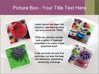 Bowl of fresh mixed berries PowerPoint Template - Slide 24