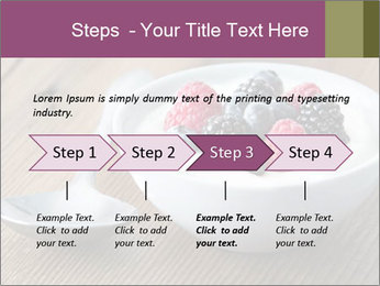 Bowl of fresh mixed berries PowerPoint Template - Slide 4