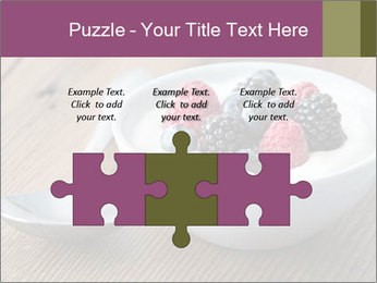 Bowl of fresh mixed berries PowerPoint Template - Slide 42