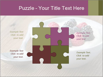 Bowl of fresh mixed berries PowerPoint Template - Slide 43
