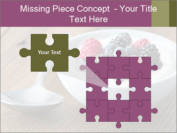 Bowl of fresh mixed berries PowerPoint Template - Slide 45
