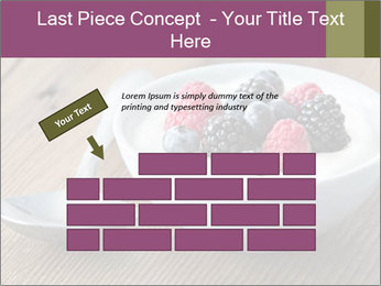 Bowl of fresh mixed berries PowerPoint Template - Slide 46