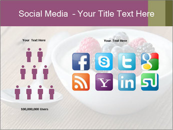 Bowl of fresh mixed berries PowerPoint Template - Slide 5