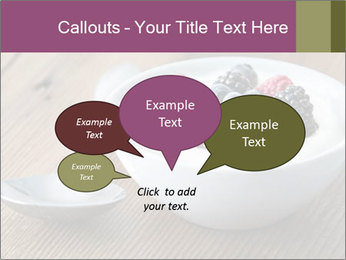 Bowl of fresh mixed berries PowerPoint Template - Slide 73
