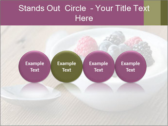 Bowl of fresh mixed berries PowerPoint Template - Slide 76