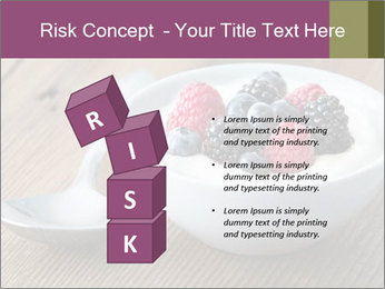 Bowl of fresh mixed berries PowerPoint Template - Slide 81