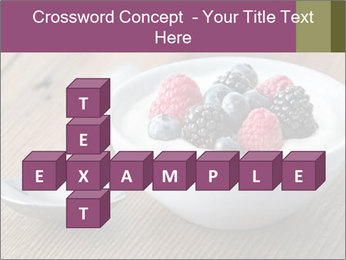 Bowl of fresh mixed berries PowerPoint Template - Slide 82