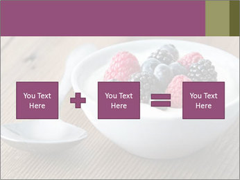 Bowl of fresh mixed berries PowerPoint Template - Slide 95