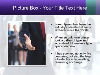 A business man with an open hand PowerPoint Template - Slide 13