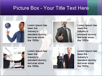 A business man with an open hand PowerPoint Template - Slide 14