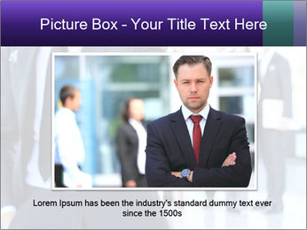 A business man with an open hand PowerPoint Template - Slide 16