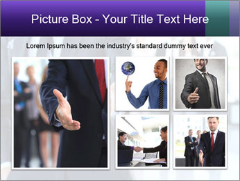 A business man with an open hand PowerPoint Template - Slide 19