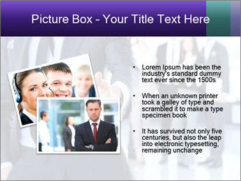 A business man with an open hand PowerPoint Template - Slide 20