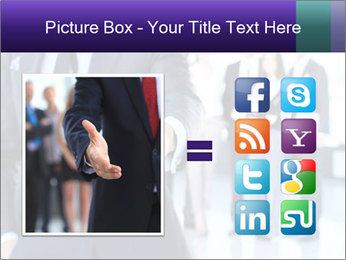 A business man with an open hand PowerPoint Template - Slide 21