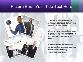A business man with an open hand PowerPoint Template - Slide 23